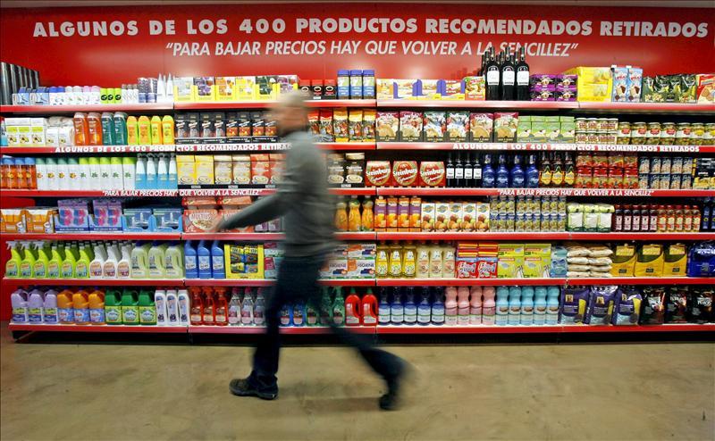 Una organización novedosa para estanterías de supermercados